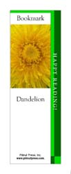 This bookmark depicts a Dandelion.