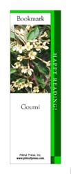 This bookmark depicts a Goumi.