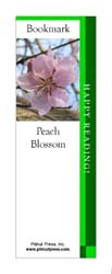 This bookmark depicts a Peach Blossom.