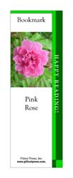 This bookmark depicts a Pink Rose.