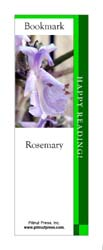 This bookmark depicts a Rosemary.