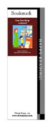 This bookmark depicts the book titled Can You Keep a Secret?.
