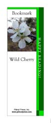This bookmark depicts a Wild Cherry blossom.